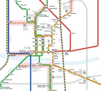 Austins Longterm Rail Vision Houston Tomorrow - Metro rail houston map